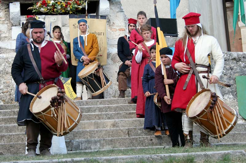 medieval feast Caneva castle Friuli region Italy
