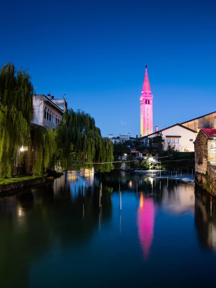 Sacile in rosa campanile duomo